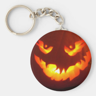 Carved Jack o lantern Keychain