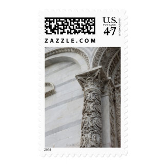 Carved Marble column of the Baptisery Postage Stamp