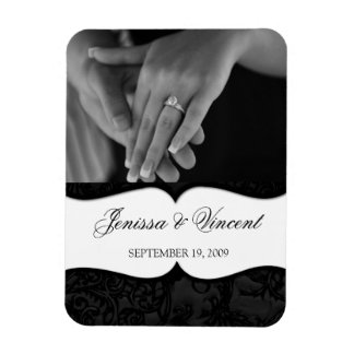"Carved Onyx Save the Date Magnet 3"" x 4"""