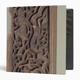 Carved panel decorated with a lute player vinyl binders