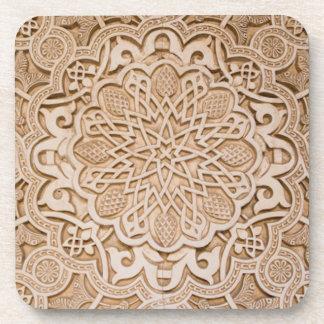 Carved Pattern cork coaster set