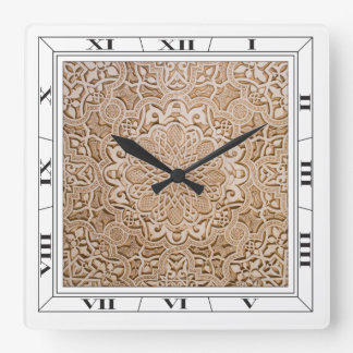 Carved Pattern Wall Clock