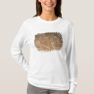 Carved petroglyph depicting figures T-Shirt
