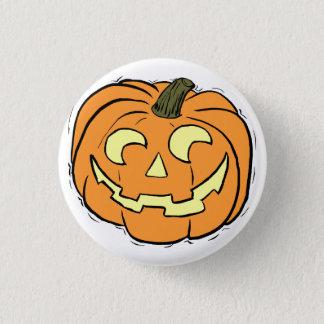 Carved Pumpkin Face Pinback Button