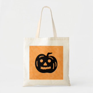 Carved Pumpkin Silhouette with Teeth. Bags