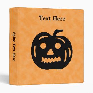 Carved Pumpkin Silhouette with Teeth. 3 Ring Binder
