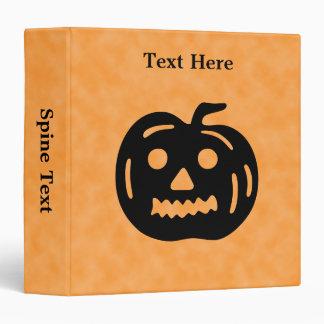 Carved Pumpkin Silhouette with Teeth. Binders