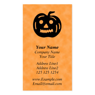 Carved Pumpkin Silhouette with Teeth. Double-Sided Standard Business Cards (Pack Of 100)
