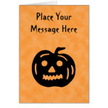 Carved Pumpkin Silhouette with Teeth. Card