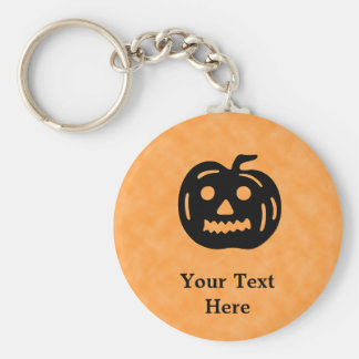 Carved Pumpkin Silhouette with Teeth. Keychain