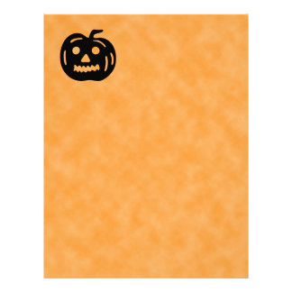 Carved Pumpkin Silhouette with Teeth. Personalized Letterhead