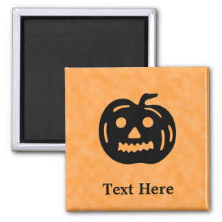 Carved Pumpkin Silhouette with Teeth. Fridge Magnets
