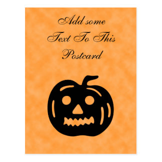 Carved Pumpkin Silhouette with Teeth. Post Cards
