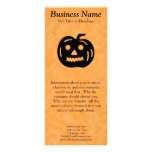 Carved Pumpkin Silhouette with Teeth. Rack Card Design