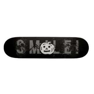 Carved Pumpkin Silhouette with Teeth. Skate Boards
