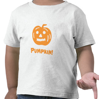 Carved Pumpkin Silhouette with Teeth. Tee Shirts