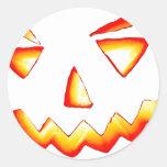 Carved Pumpkin Stickers