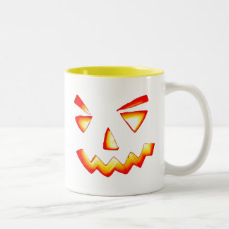 Carved Pumpkin Two-Tone Coffee Mug