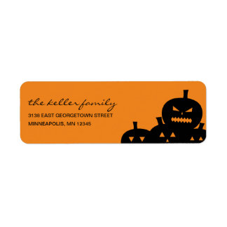 Carved Pumpkins Halloween Address Label