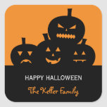 Carved Pumpkins Halloween Gift Tag Stickers Sticker