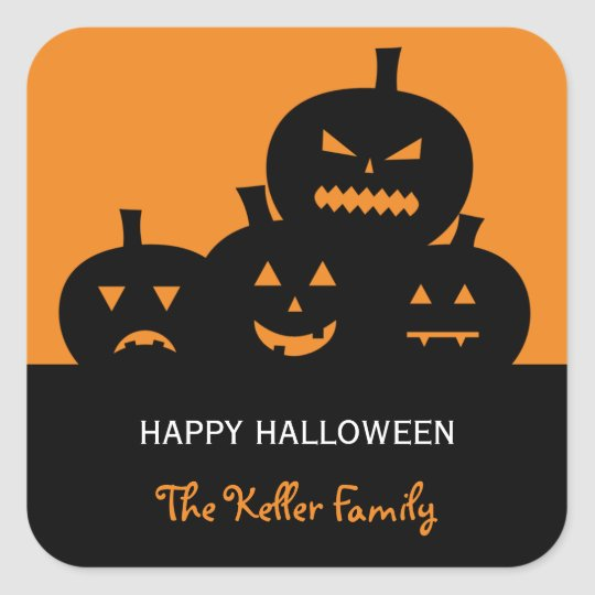 Carved Pumpkins Halloween Gift Tag Stickers