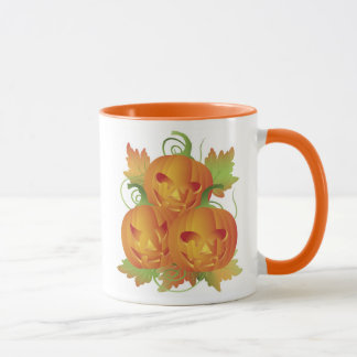 Carved Pumpkins with Vines Mug