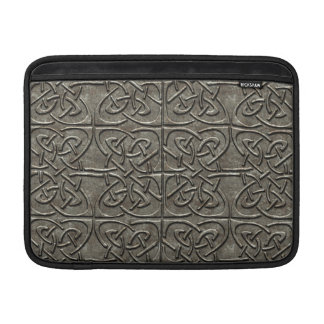 Carved Stone Connected Ovals Celtic Pattern MacBook Sleeve