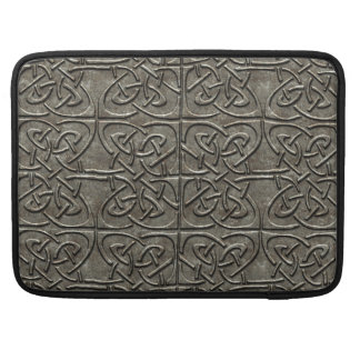 Carved Stone Connected Ovals Celtic Pattern Sleeves For MacBooks