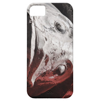 Carved stone fish face iPhone case
