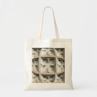 Carved stone panel tote bag