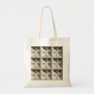 Carved stone panels tote bag