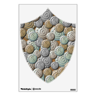 Carved Stones Pattern Crest Wall Decal