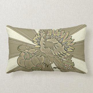 Carved Thanksgiving Turkey - Lumbar Pillow