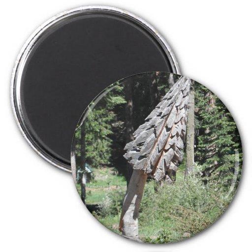 Carved Tree Refrigerator Magnet