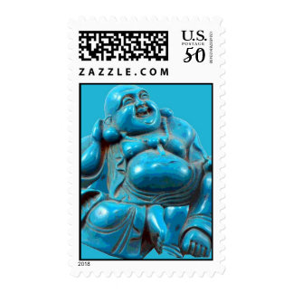 Carved Turquoise Laughing Buddha Postage