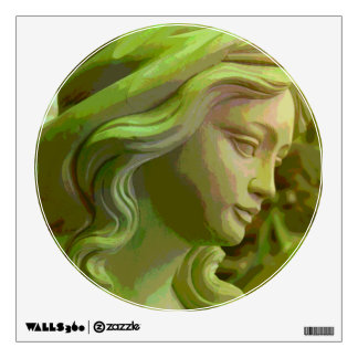 Carved Woman's Face Wall Decal