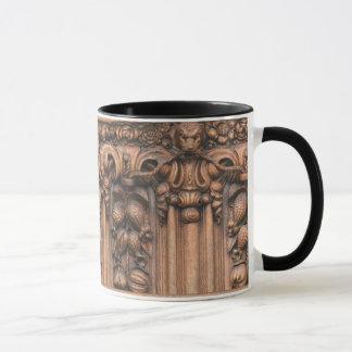 Carved Wood 11 oz. Ringer Mug