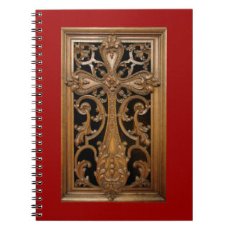 Carved-Wood Cross Notebook