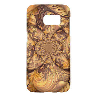 Carved Wood Optical Illusion Brown Honey Neutral Samsung Galaxy S7 Case