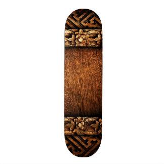 Carved Wood Pattern Skateboard Deck