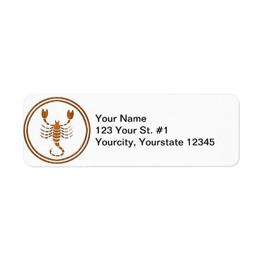 Carved Wood Scorpio Zodiac Symbol Label