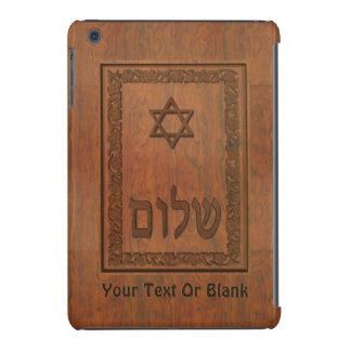Carved Wood Shalom iPad Mini Retina Case