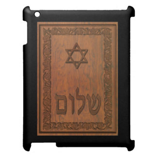 Carved Wood Shalom Case For The iPad