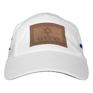 Carved Wood Shalom Headsweats Hat