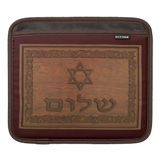 Carved Wood Shalom Sleeve For iPads