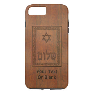 Carved Wood Shalom iPhone 7 Plus Case