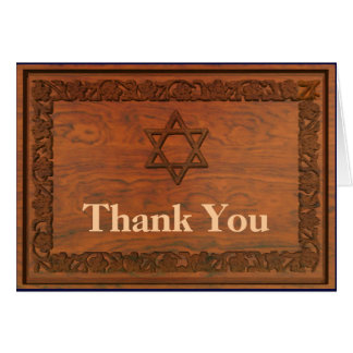 Carved Wood Star Of David Greeting Cards
