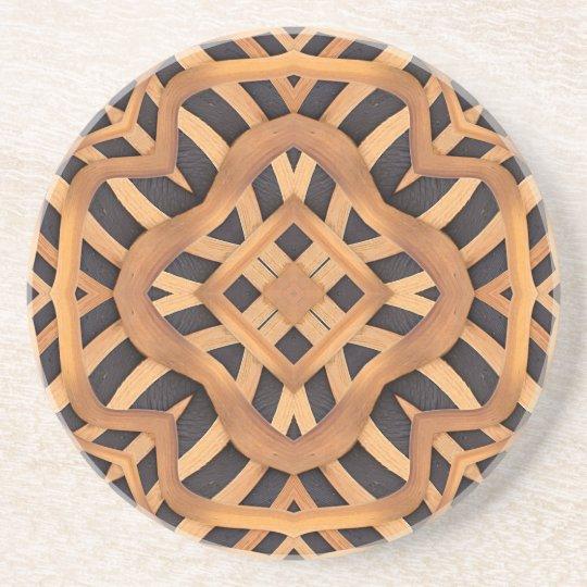 Carved Wooden Motif Coaster