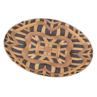 Carved Wooden Motif Plate