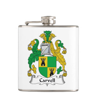 Carvell Family Crest Flask